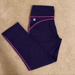 Fabletics XXS crops Purple & Pink